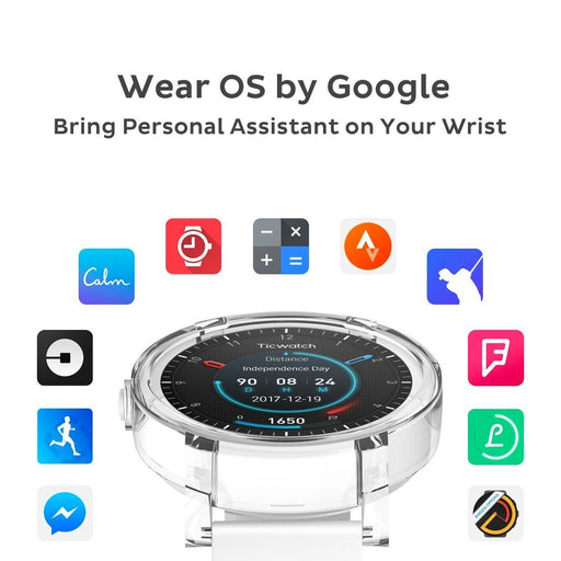 Ticwatch E Ice, Most Comfortable Smart Watch, WearOS by google
