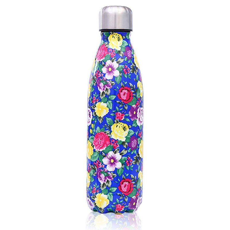 Flowers on Blue - Life Bottle