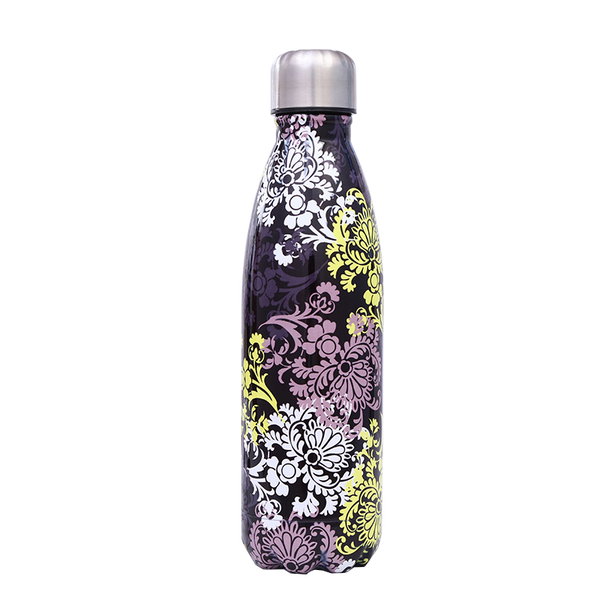 Flowers on Black - Life Bottle