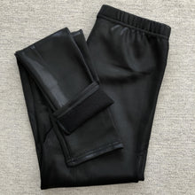 Load image into Gallery viewer, Pebbled Leatherette Feel Fleece Lined Leggings