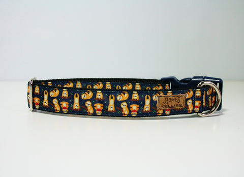 Navy Sloth Dog Collar