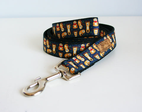 Navy Sloth Dog Lead