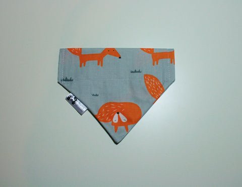 Orange Fox Slip on Bandana