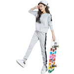 Autumn Winter Tracksuit Long Sleeve Stitching Sweatshirts Casual Suit Women Clothing