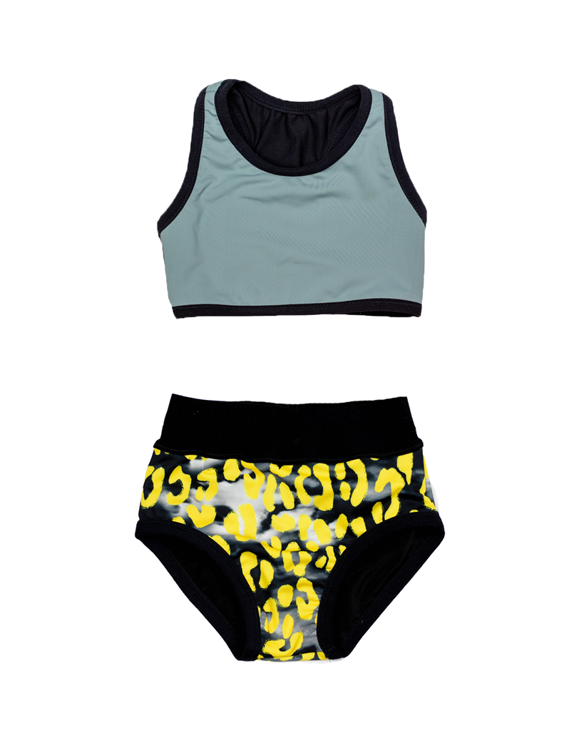 Swim Tank Bikini - Shark Bite and Stormy Leopard (Ready to Ship 12-18 mo)