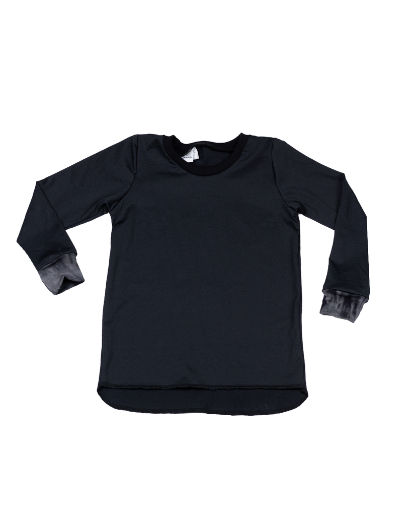 Hi Lo Long Sleeve Tee - Onyx (Ready to Ship)