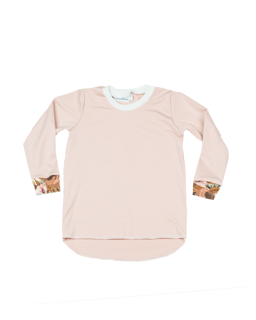 Hi Lo Long Sleeve Tee - Rose Quartz (Ready to Ship)