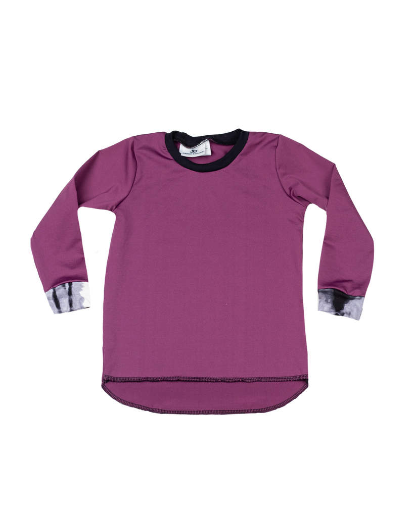 Hi Lo Long Sleeve Tee - Ruby (Ready to Ship)