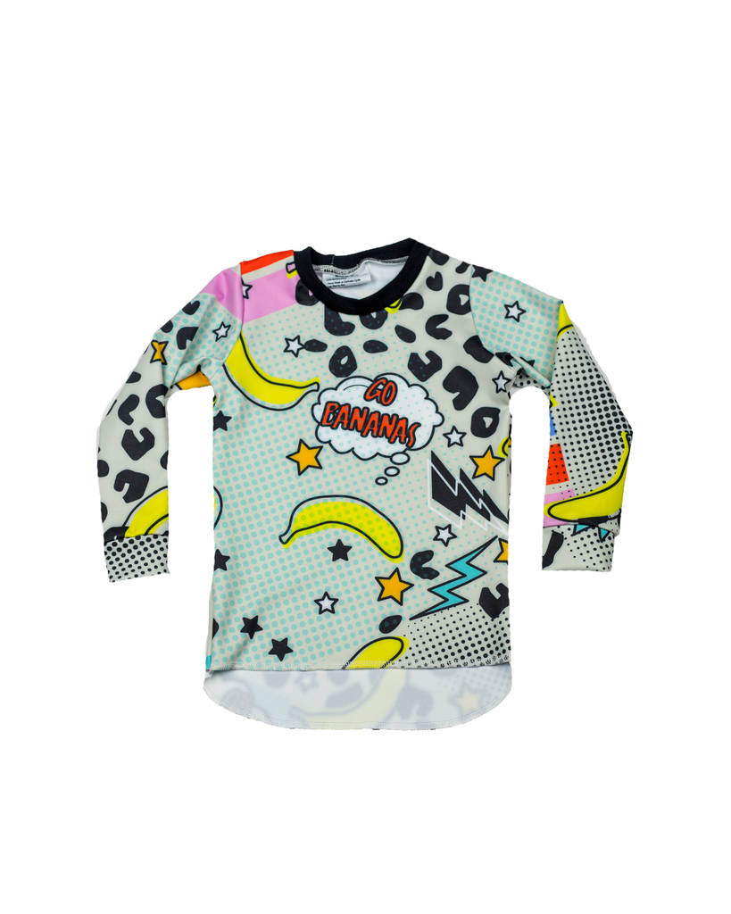 Hi Lo Long Sleeve Tee - Pop Art