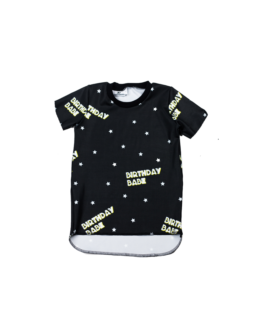 Hi Lo Short Sleeve Tee - Birthday Babe