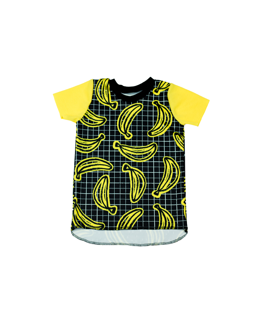 Hi Lo Tee - Bananas on Black (Ready to Ship)