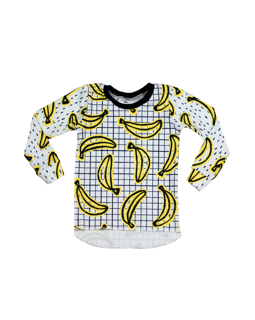 Hi Lo Long Sleeve Tee - Bananas