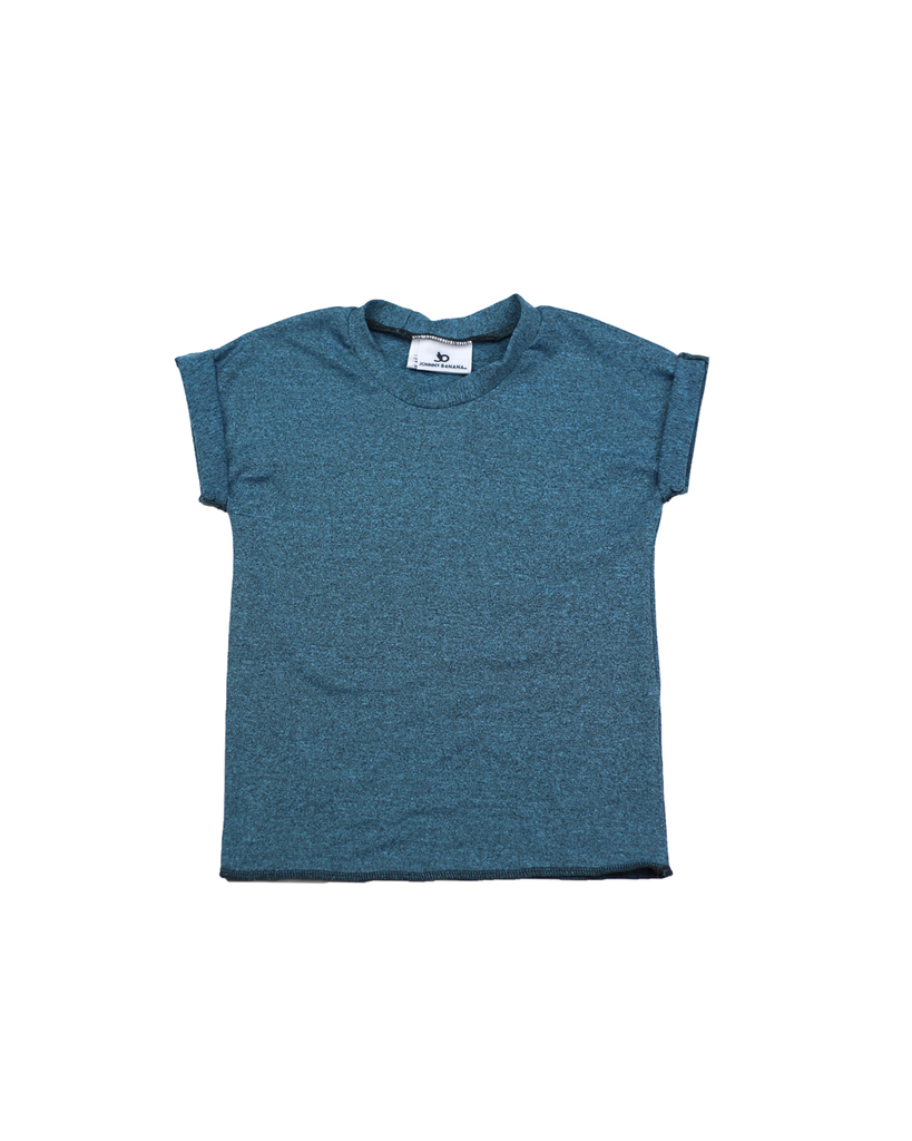 Roll Tee - Heathered Teal (Ready to Ship)