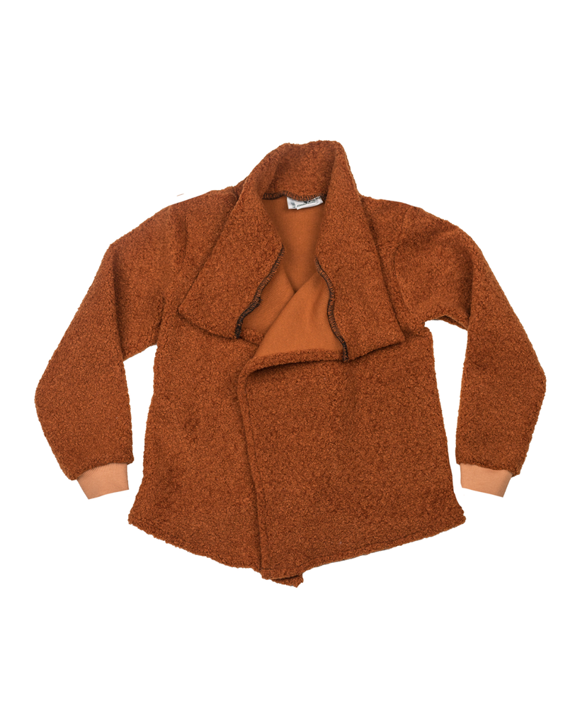 Hipster Cardi - Caramel Sherpa (Ready to Ship)