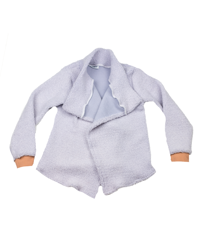 Hipster Cardi - Lavender Sherpa (Ready to Ship)