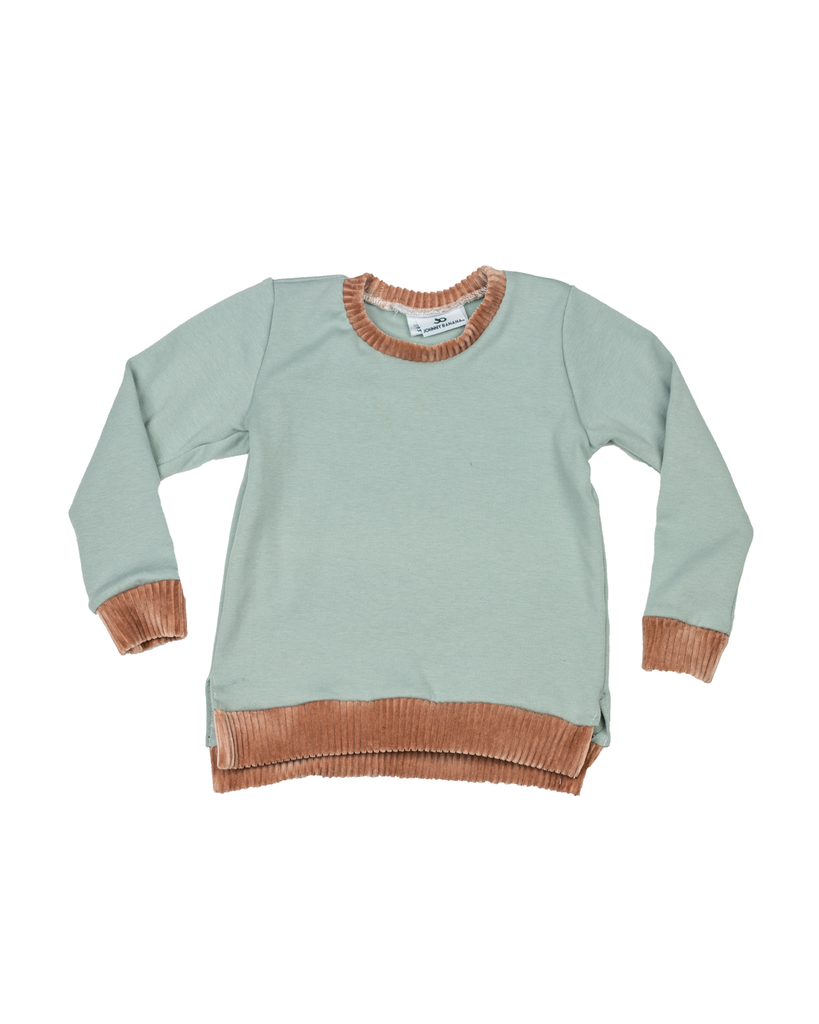 Split Hem Pullover - Capri (Ready to Ship)