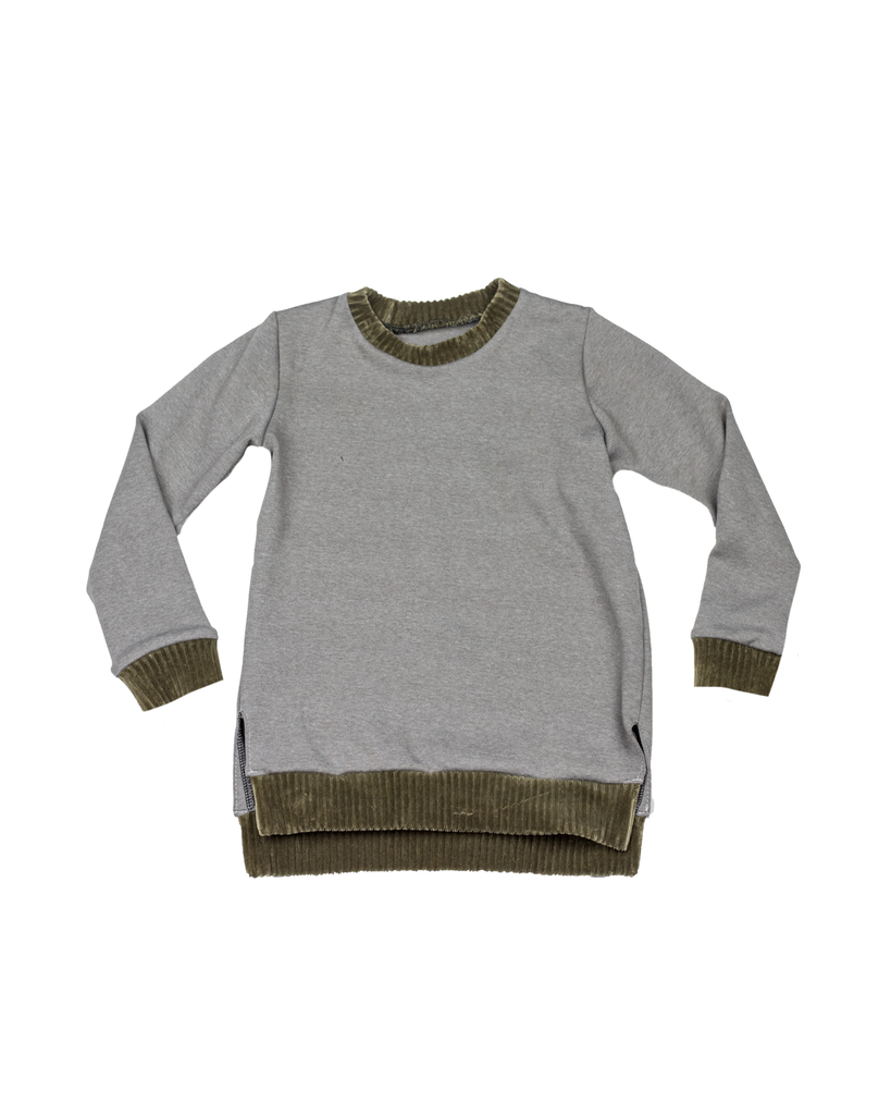 Split Hem Pullover - Mink (Ready to Ship)