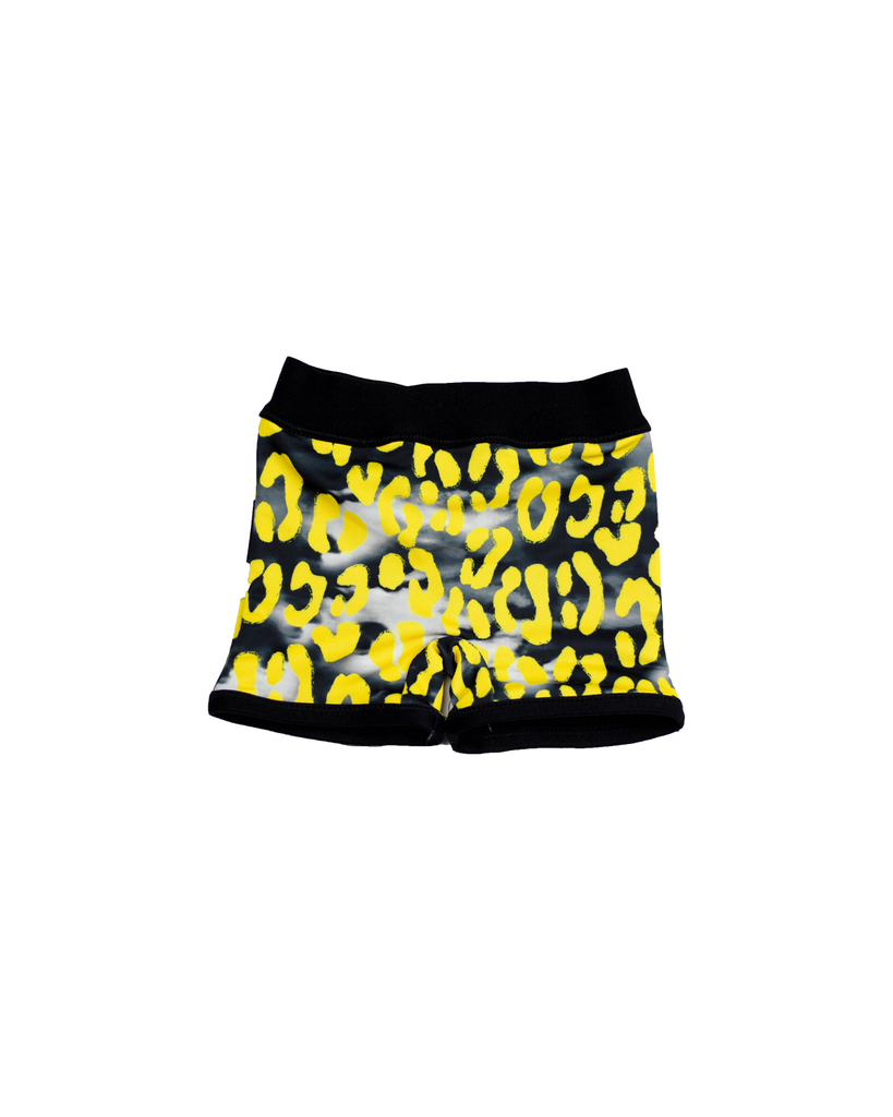Swim Euro Shorts - Stormy Leopard (Ready to Ship)