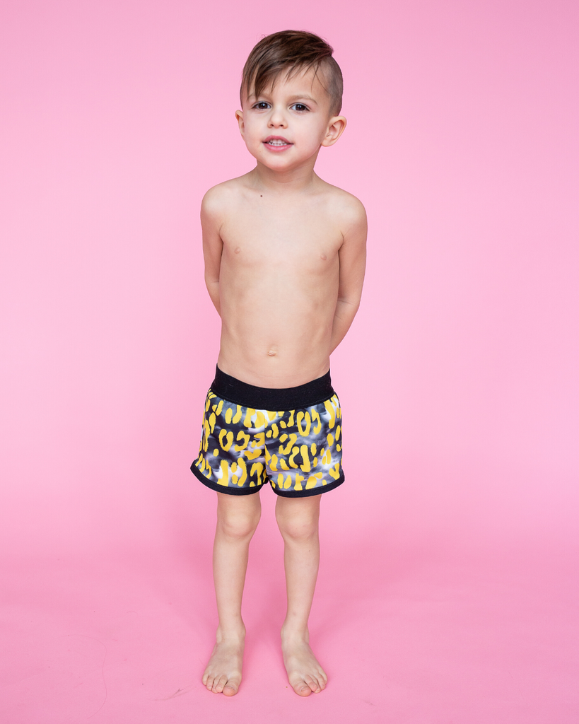 Swim Boardies - Stormy Leopard