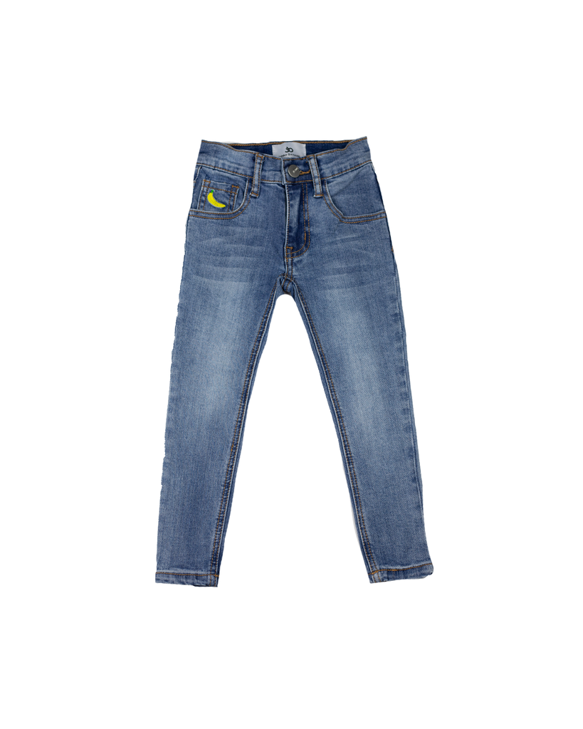 Denim - Medium Wash Skinny Jeans (RTS)