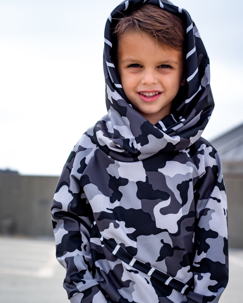 Slanted Hoodie - Dark Camo (Ready to Ship)