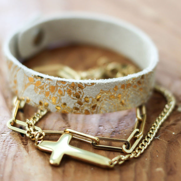 Cross Bracelet Stack