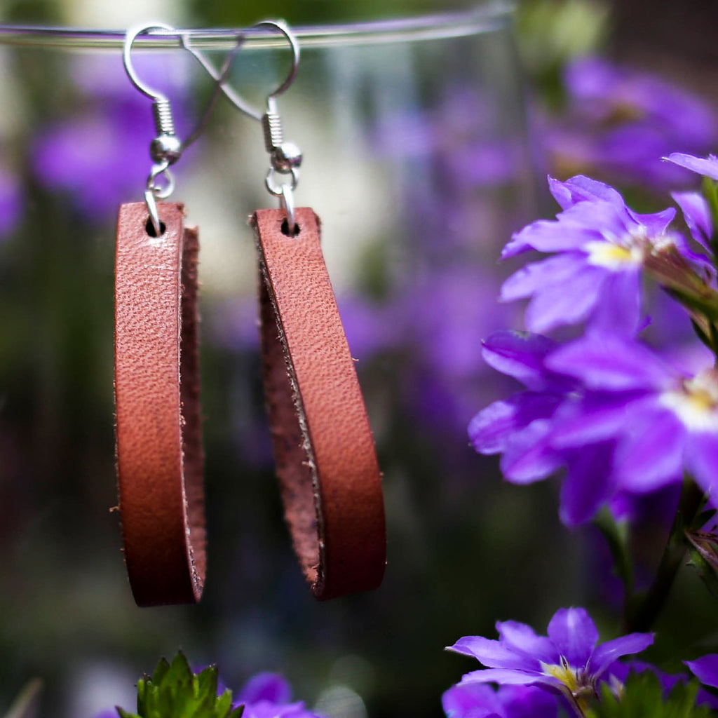 Brown Loop Earrings