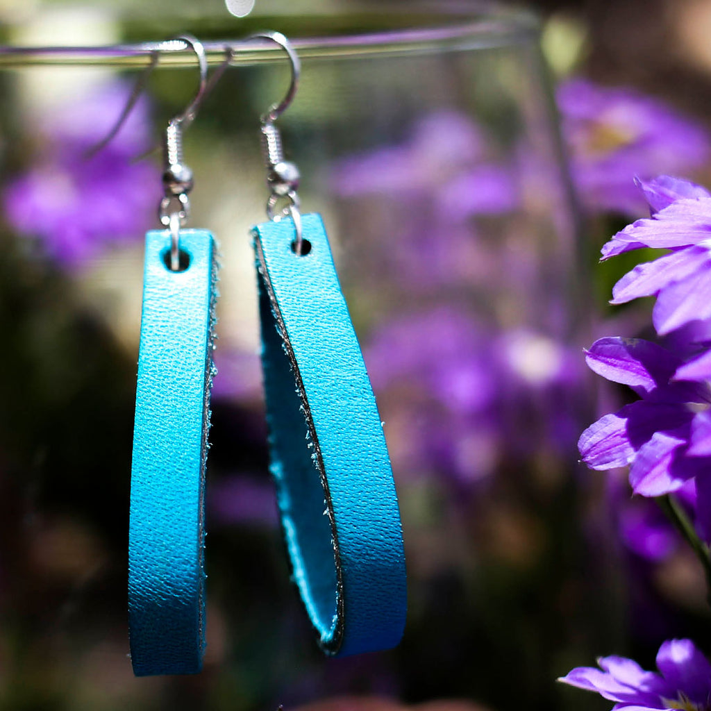 Sky Blue Loop Earrings