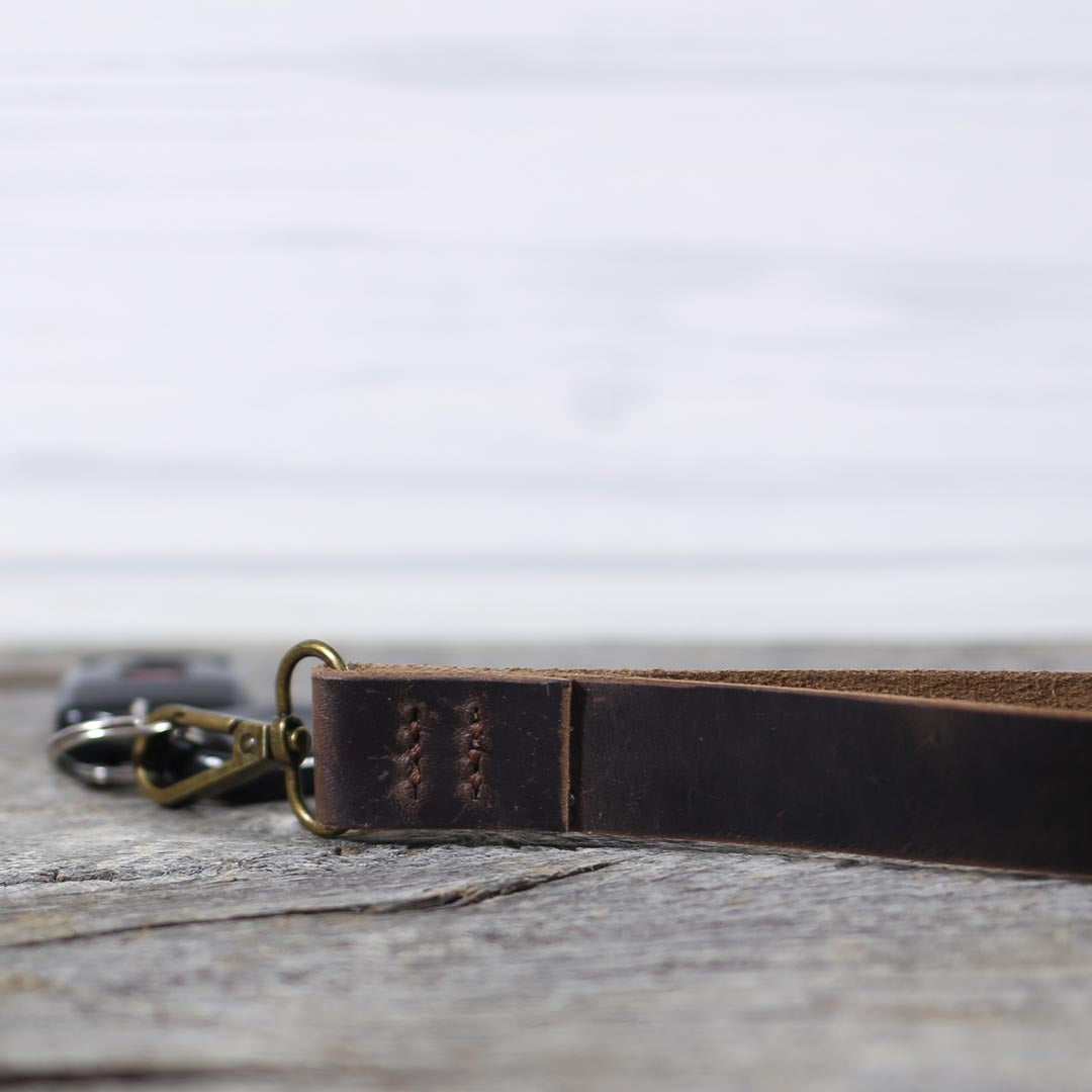 Limited Edition Waxed Leather Wristlet