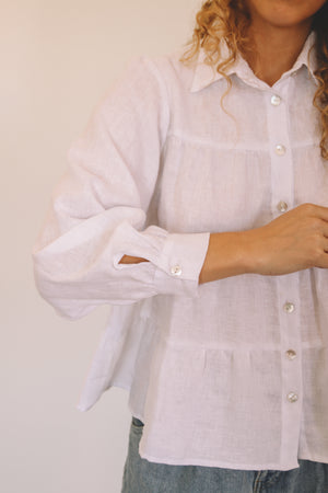 Tiered Shirt - White