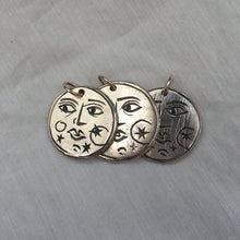 Load image into Gallery viewer, S T E L L A R  Sun + Moon Reversible Coin Necklace Solid Bronze
