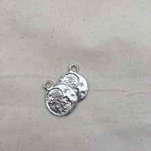 Load image into Gallery viewer, A R T E M I S  Moon Face Necklace Sterling Silver