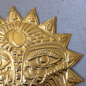 S U N  Metal Foil Hanging Decoration