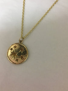 S E R E N  S T A R  Constellation Small Coin Necklace 9ct Gold
