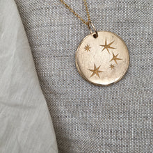 Load image into Gallery viewer, S E R E N  S T A R  Constellation Large Coin Necklace