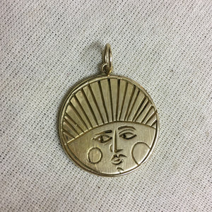 S T E L L A R  Sun + Moon Reversible Coin Necklace Solid Bronze