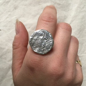 SELENE Moon Ring Sterling Silver