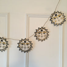 Load image into Gallery viewer, S U N  Hand Printed Paper Garland