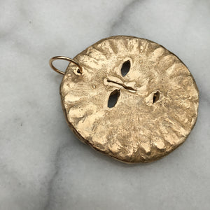 SOLA Sun Face Large Necklace Bronze