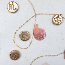 Load image into Gallery viewer, SCORPIO SUN SIGN Reversible Coin Necklace Solid Bronze