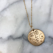 Load image into Gallery viewer, STELLAR Sun + Moon Reversible Coin Necklace