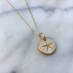 CAPRICORN SUN SIGN Reversible Coin Necklace Solid Bronze