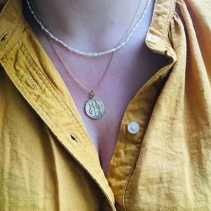 M A G I C  Coin Necklace in Solid 9ct Gold