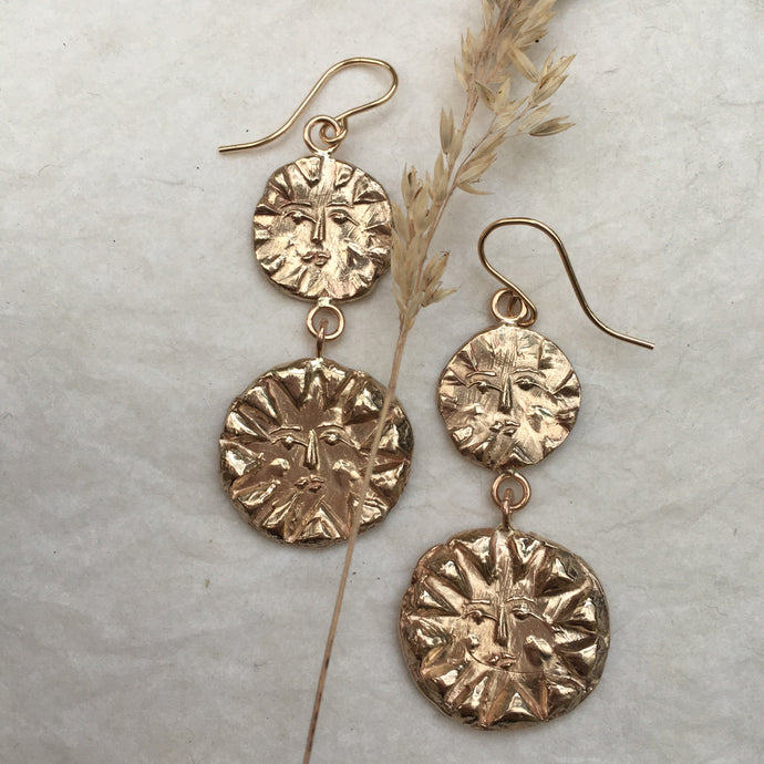 S O L S T I C E  Embossed Sun Earrings