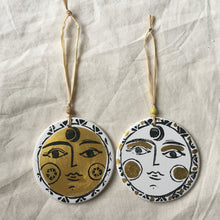 Load image into Gallery viewer, SUN & MOON Ceramic Hanging Decorations