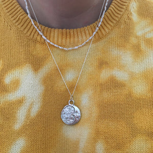 A R T E M I S  Moon Face Necklace Sterling Silver