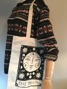 MOON Tarot Canvas Tote Bag