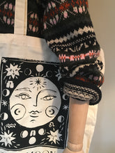Load image into Gallery viewer, MOON Tarot Canvas Tote Bag