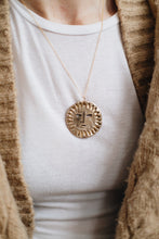 Load image into Gallery viewer, S O L A  Sun Face Large Necklace Bronze