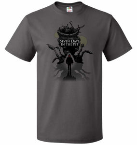 7 Days In The Pit Unisex T-Shirt - Charcoal Grey / S - T-Shirt